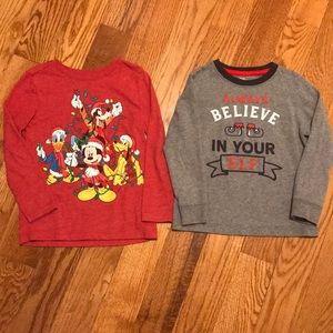 Other - Size 4T Holiday long sleeve tees